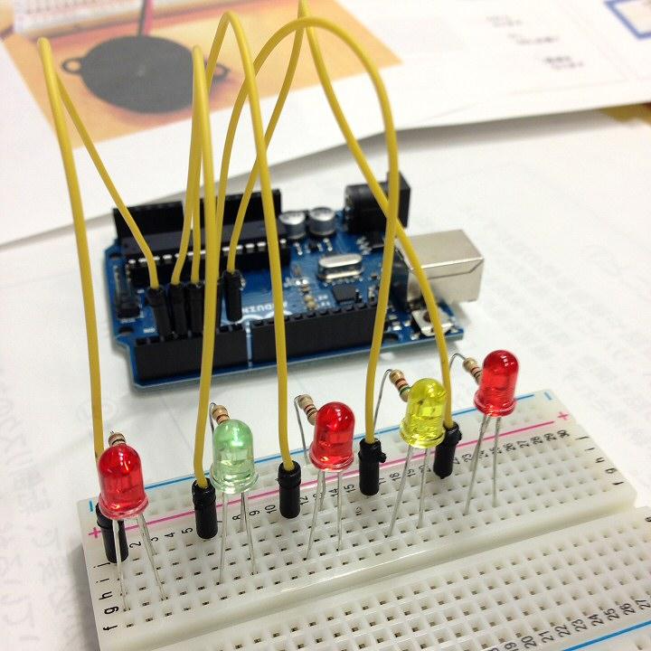 反応速度測定器 LEDを取り付ける
